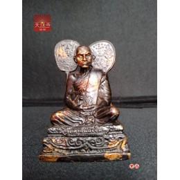 泰國財佛 泰國佛牌正品龍婆艮自身小供奉老文物龍婆銀自身供奉型泰國高僧自身佛像已開光裝藏 此為早期文物 長年在正信寺廟加持